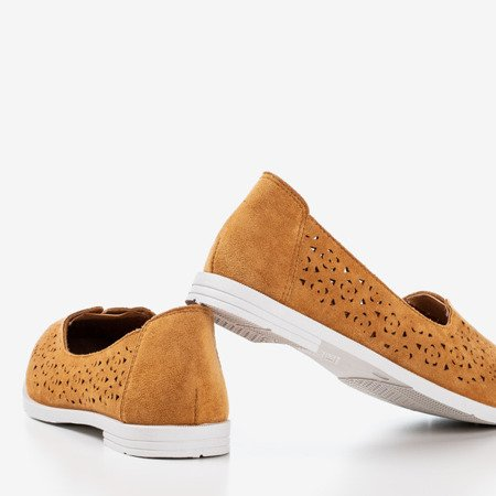 Ажурные мокасины коричневого цвета Rewita - Обувь