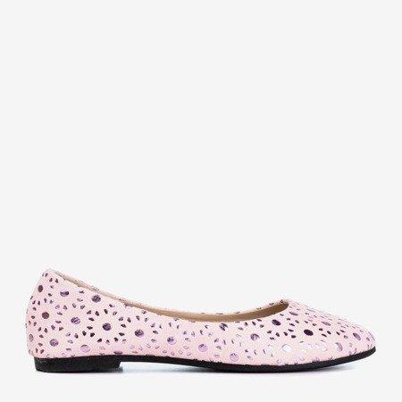 Балетки для девочек светло-розового цвета с рисунком Dulcibus - Обувь