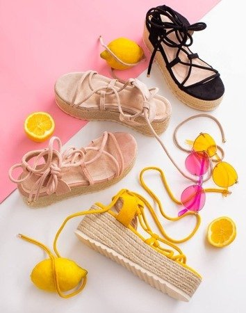 Бежевые женские сандалии на платформе Alvis - Обувь