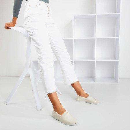 Бежевые женские слипоны Slavarina - Обувь