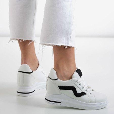 Бело-черные кроссовки на танкетке Say It - Обувь