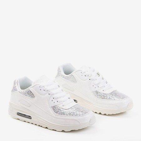 Белые кроссовки Evanciia с блестками - Обувь