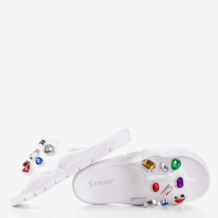 Белые сандалии с камешками Tamarice - Обувь