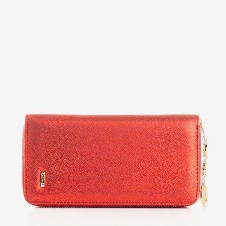 Большой глянцевый красный кошелек для женщин - Кошелек