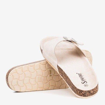 Босоножки женские бежевые с пряжкой Lovinka - Обувь