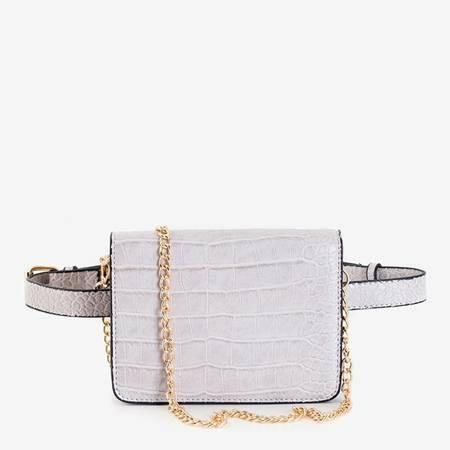 Женская серая поясная сумка - Сумочки