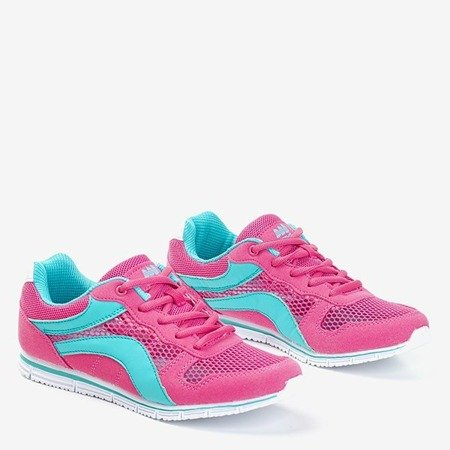 Женская спортивная обувь цвета фуксии с синими вставками каннаси - Обувь