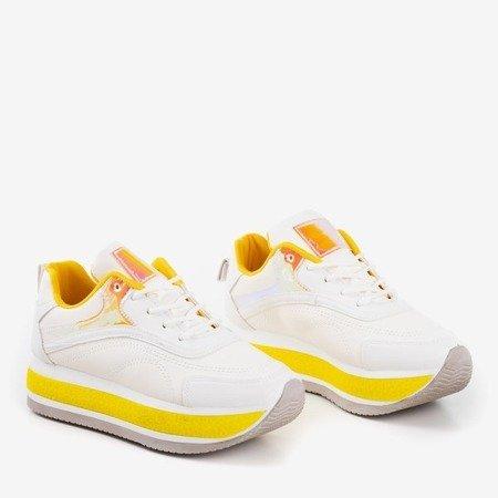 Женские белые спортивные кроссовки на толстой платформе Savssia - Обувь