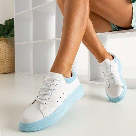 Женские белые спортивные туфли с синими вставками Gulio - Обувь