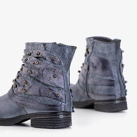 Женские ботильоны в полоску Adalia синие - Обувь