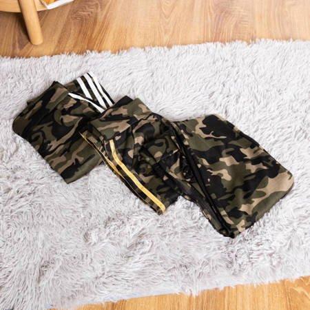 Женские камуфляжные тренги с белыми полосками - Одежда