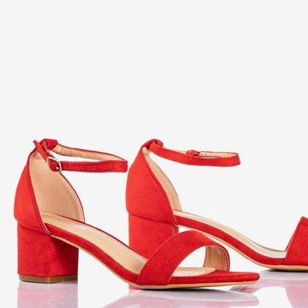 Женские красные сандалии на невысокой стойке Первая любовь - Обувь