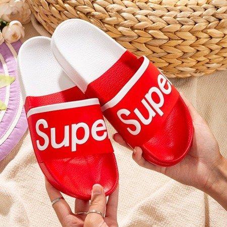 Женские красные тапочки с надписью Supera - Обувь
