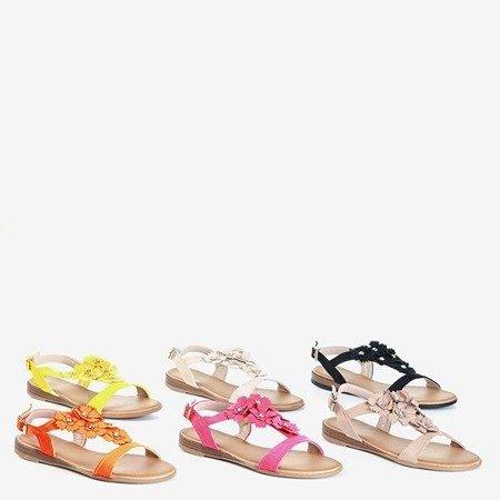 Женские сандалии цвета фуксии с цветами Madlen - Обувь