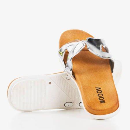 Женские серебряные тапочки Hemoq - Обувь