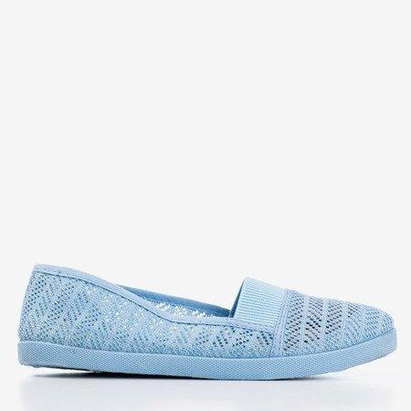 Женские синие ажурные слипы - на Heyan - Обувь