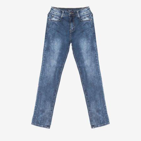 Женские синие джинсовые брюки - Одежда