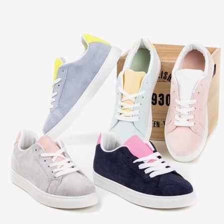 Женские темно-синие кроссовки с неоново-розовой вставкой Barielle - Обувь