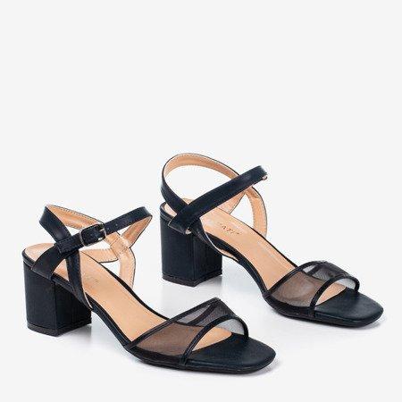Женские черные сандалии на низкой стойке Vivianne - Обувь