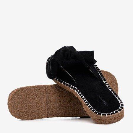 Женские черные сандалии с бантом Latusa - Обувь