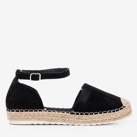 Женские черные эспадрильи на платформе Citiva - Обувь