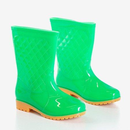 Зеленые женские веллингтонские ботинки Muni - Обувь