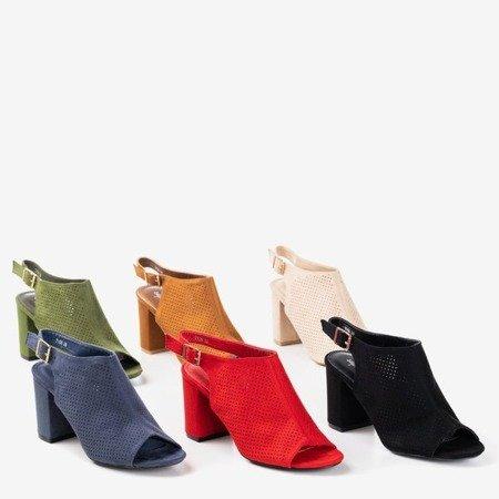 Красные ажурные сандалии на более высокой стойке Solana - Обувь