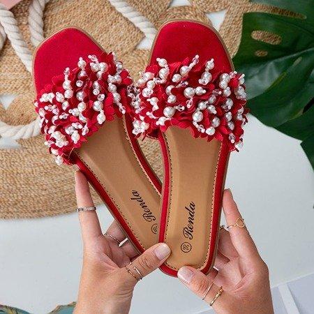 Красные тапочки с орнаментом Молли - Обувь