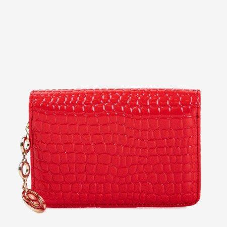 Красный маленький женский кошелек с тиснением животных - Кошелек