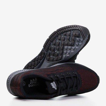 Мужские черные кроссовки с красной отделкой Erol - Обувь