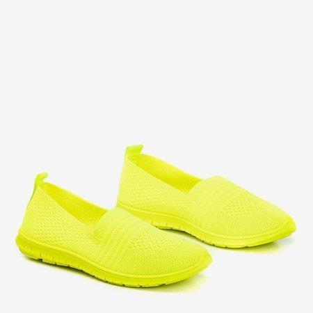 Неоново-желтые женские слипоны Цветной - Обувь