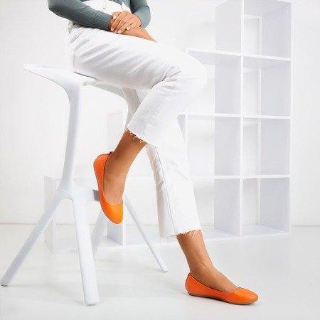 Неоновые оранжевые женские экокожи - кожа Nastis - Обувь
