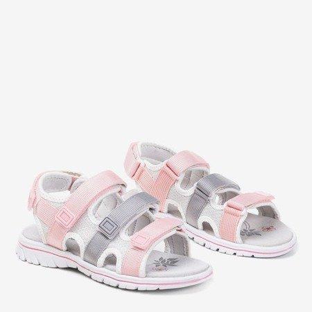 Розовые и серые детские сандалии Belina - Обувь