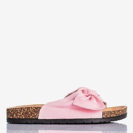 Розовые тапочки Sunshine с бантом - Обувь