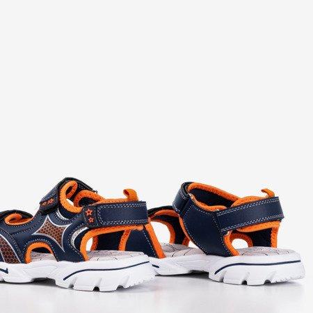 Сандалии для мальчиков темно-синего и оранжевого цвета Hanoi - Обувь