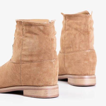 Светло-коричневые ковбойские сапоги a'la на внутренней танкетке Terband - Обувь