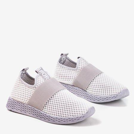 Светло-серые женские спортивные слипоны - on Andalia - Обувь