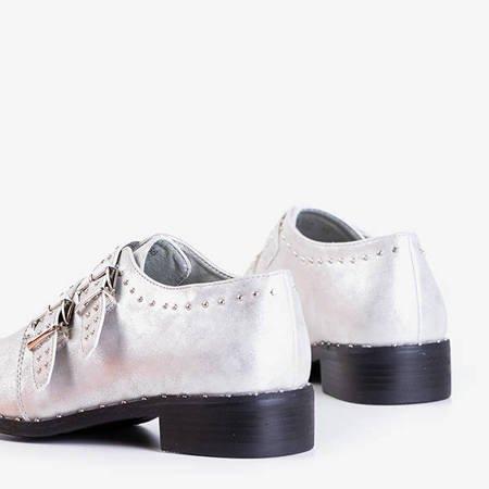 Серебряные женские туфли с форсунками Dream Queen - Обувь