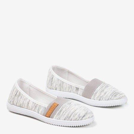 Серые кроссовки слипоны на лямках Arimida - Обувь