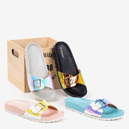 Серые тапочки с голографической отделкой Sabia - Обувь