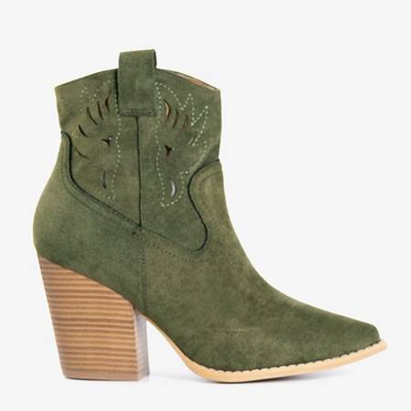 Темно-зеленые ковбойские сапоги a'la на посту Belieu - Обувь