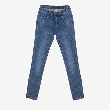 Темно-синие женские джинсы скинни - Одежда