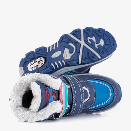 Темно-синие зимние ботинки для мальчиков со вставками в рубчик от Wirtol - Обувь
