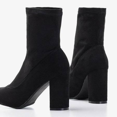 Черные ботильоны из эко-замши Melinda - Обувь
