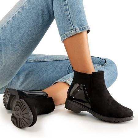 Черные ботинки на плоской подошве Kodri - Обувь