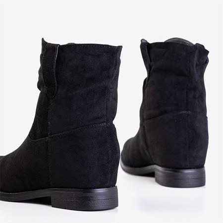 Черные ботинки на скрытой танкетке Jelluma