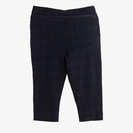 Черные вязаные крючком женские брюки с рисунком - Одежда