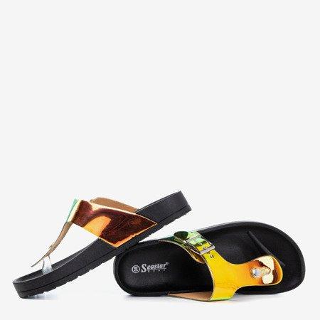 Черные женские сандалии с голографическим рисунком Manila Buckle - Обувь