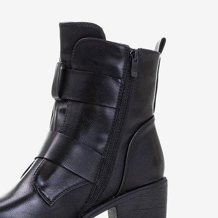 Черные женские сапоги на стойке Софи - Обувь