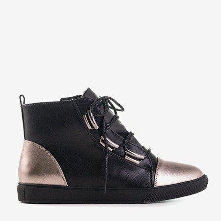 Черные и серебряные женские кроссовки Enzo - Обувь